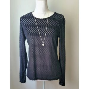 NEW Zara long Sleeve Black Blouse Large